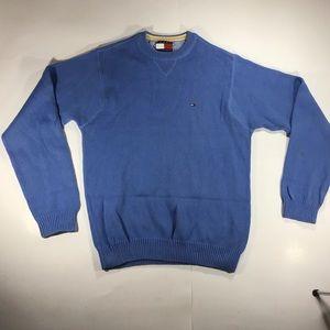 Vintage Tommy Hilfiger baby blue crew neck sweater
